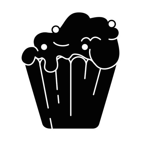 delicious cupcake isolated icon vector illustration design