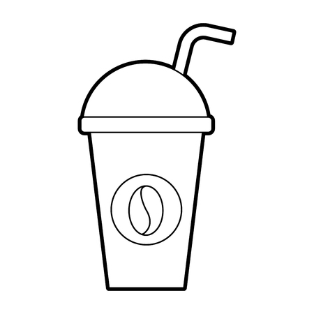 paper coffee cup disposable takeaway beverage vector illustration Illusztráció