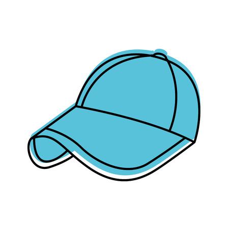 sport cap accessoire mode trendy pictogram vectorillustratie Stock Illustratie