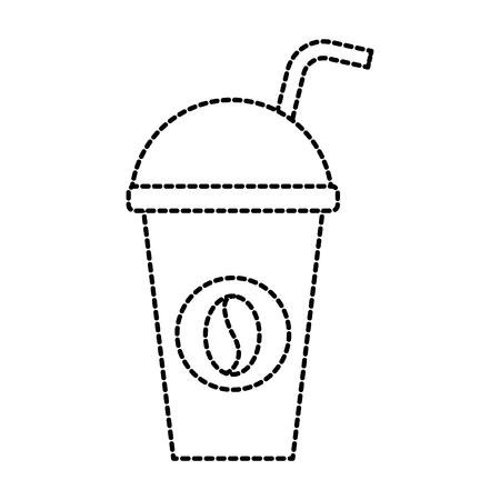 Papier kopje koffie disposable drankje vector illustratie Stock Illustratie