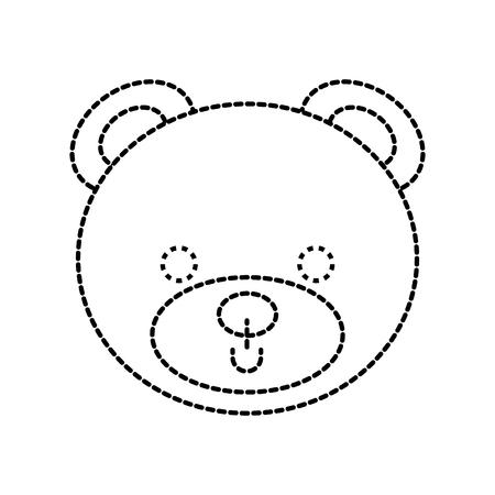 かわいいクマのテディ顔グッズ ギフト ベクトル図