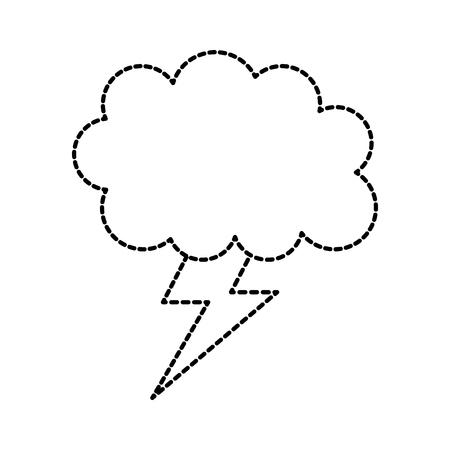 weather cloud lightning bolt climate storm vector illustration