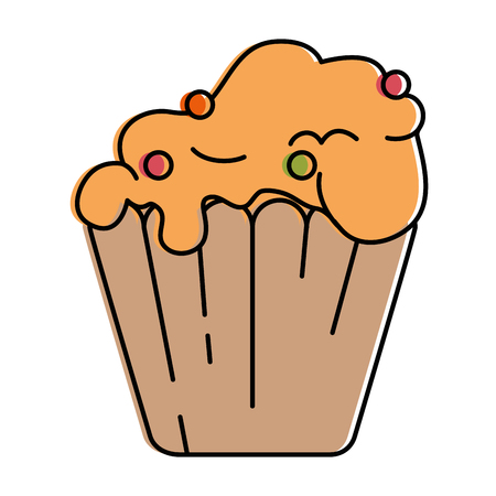 delicious cupcake isolated icon vector illustration design