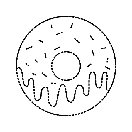 sweet donut dessert bakery food vector illustration Ilustração