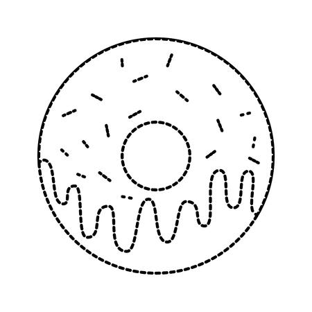 zoete donut dessert bakkerij voedsel vector illustratie