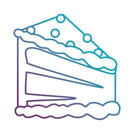 delicious cake portion icon vector illustration design