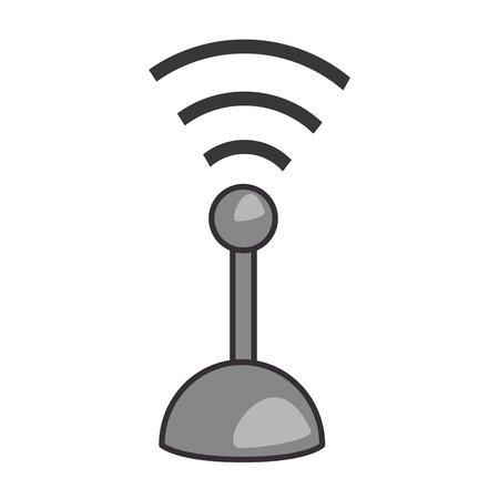 A joystick control isolated icon vector illustration design