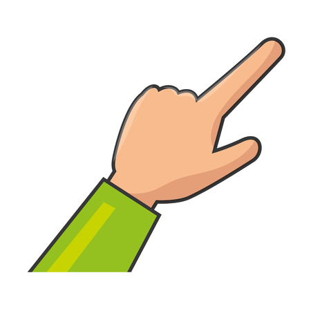 A human hand touching icon vector illustration design