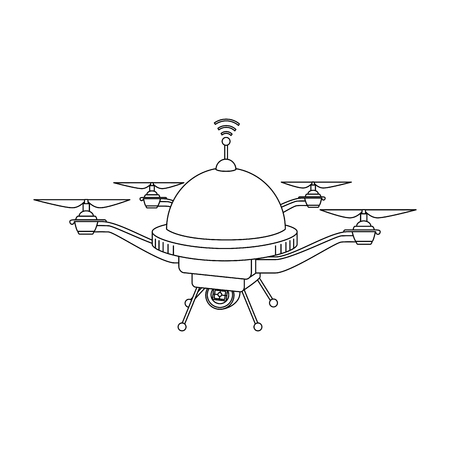 drone flying technology with camera vector illustration design 向量圖像
