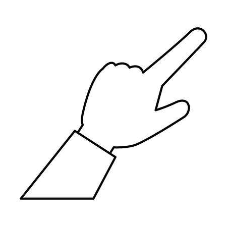 human hand touching icon vector illustration design Фото со стока - 86640615