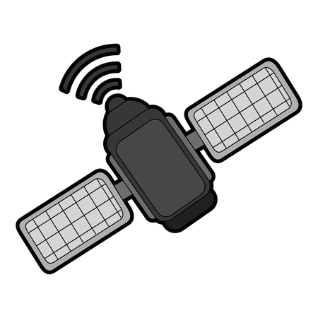 spatial satellite isolated icon vector illustration design