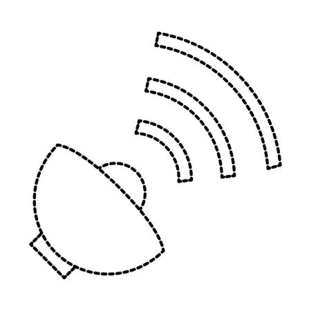 satellite antenna isolated icon vector illustration design