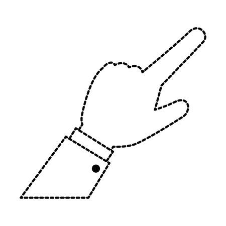 menselijke hand aanraak pictogram vector illustratie ontwerp