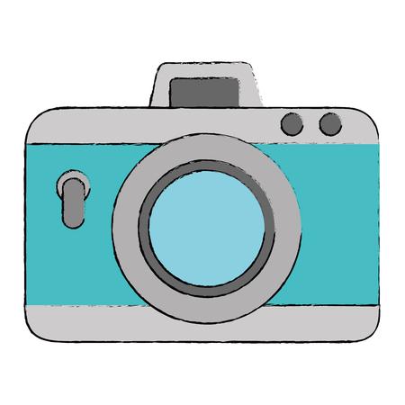 Camera photographic isolated icon illustration design