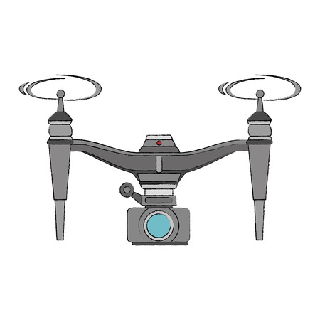 drone flying technology with camera vector illustration design Illustration