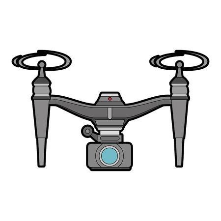 drone flying technology with camera illustration design Illustration