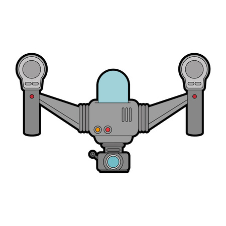Quadcopter flying technology with camera illustration design