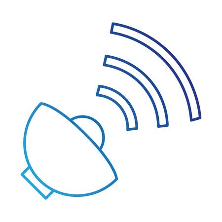 衛星アンテナ分離アイコン ベクトル イラスト デザイン  イラスト・ベクター素材