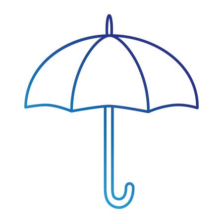 umbrella silhouette isolated icon illustration design Illustration
