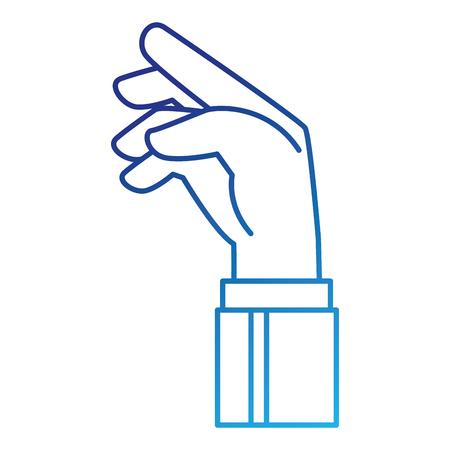 인간의 손 잡기 아이콘 일러스트 디자인 일러스트
