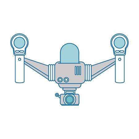 drone flying technology with camera vector illustration design Иллюстрация