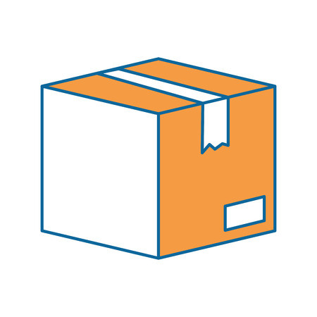 Box carton packing icon illustration design