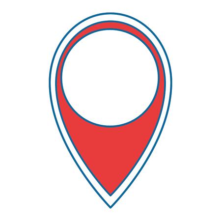 Pointer location isolated icon illustration design