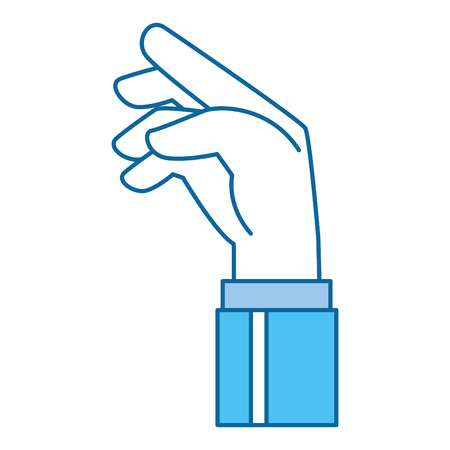 Human hand catching icon illustration design