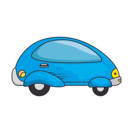 Modern car futuristic icon illustration design