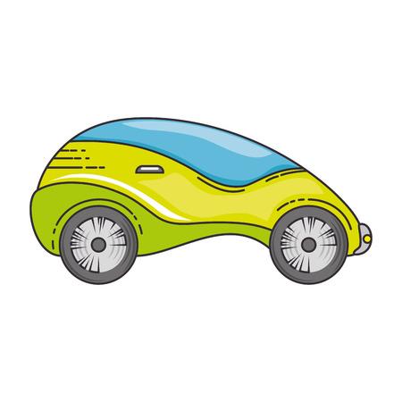 현대 자동차 미래의 아이콘 일러스트 레이션 디자인