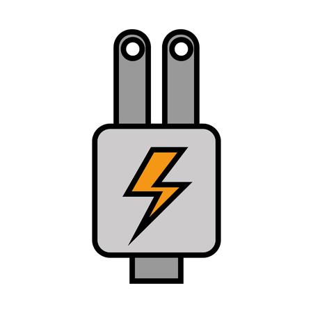 Plug energy isolated icon illustration design
