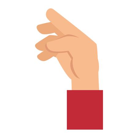 Menselijke hand vangen pictogram afbeelding ontwerp Stockfoto - 86640927