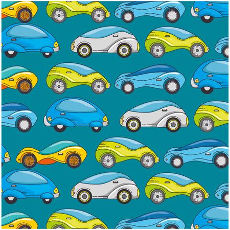 現代の車未来的なパターン背景ベクトル イラスト デザイン