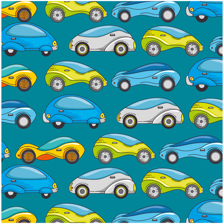 Modern car futuristic pattern background vector illustration design