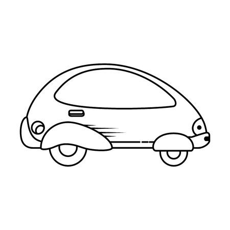 현대 자동차 미래의 아이콘 벡터 일러스트 디자인 일러스트