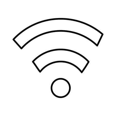 インターネットの信号分離アイコン ベクトル イラスト デザイン