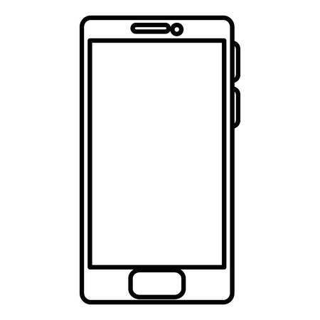 A smartphone device isolated icon vector illustration design