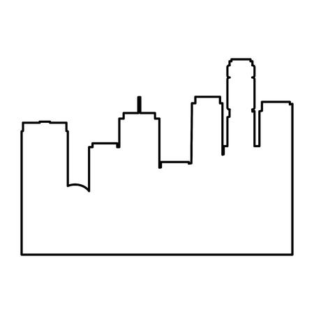 cityscape futuristic buildings icon vector illustration design