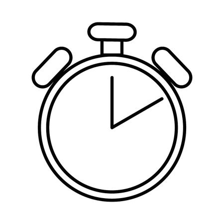 cronómetro aislado icono de ilustración vectorial de diseño Ilustración de vector