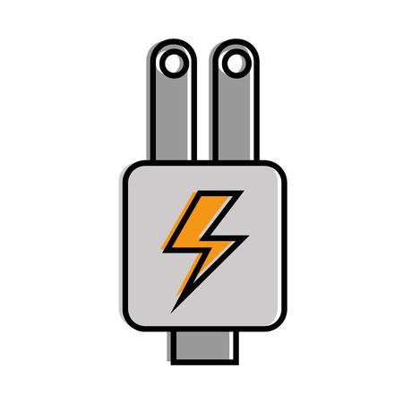 plug energy isolated icon vector illustration design