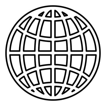 Sfera planet isolato icona illustrazione vettoriale di progettazione Archivio Fotografico - 86640996