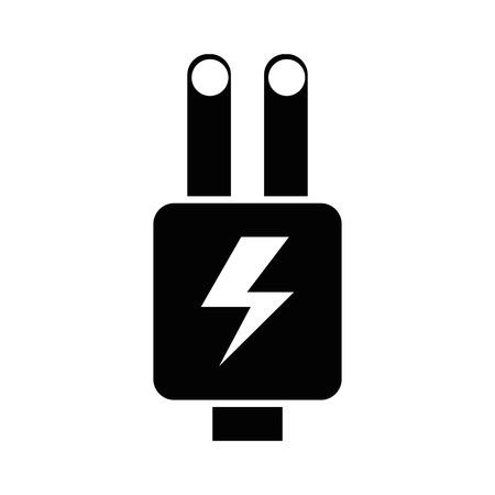プラグの絶縁エネルギー アイコン ベクトル図設計