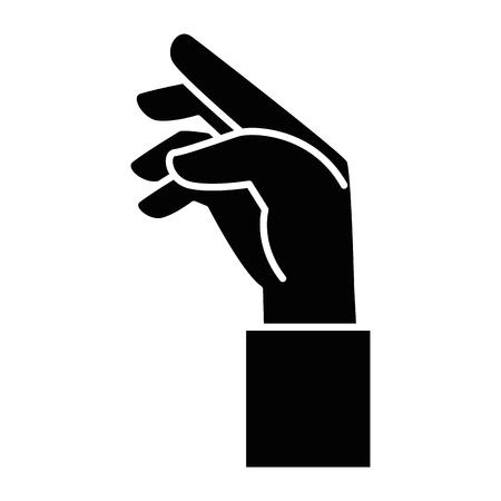 Menselijke hand vangen pictogram vector illustratie ontwerp Stockfoto - 86641015