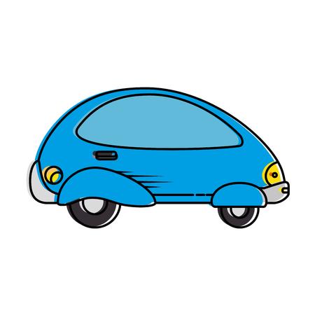 現代車未来的なアイコンベクトルイラストデザイン