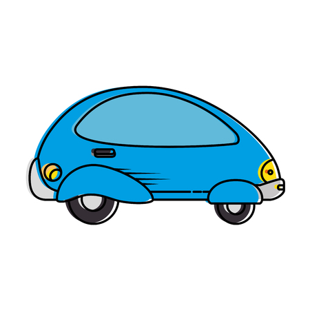 modern car futuristic icon vector illustration design