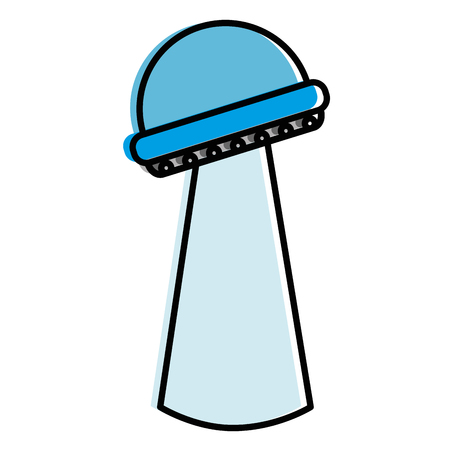 futuristic building isolated icon vector illustration design