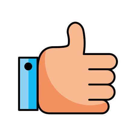 business hand man like approval vector illustration Иллюстрация