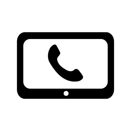 technology customer service phone help online vector illustration Illustration