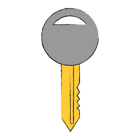 Clé voiture icône isolé illustration vectorielle conception Banque d'images - 86641098