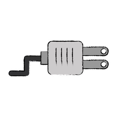 plug energie geïsoleerd pictogram vector illustratie ontwerp